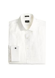 J.Crew Ludlow Slim-fit pleated tuxedo shirt