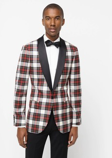 J.Crew Ludlow Slim-fit shawl-collar dinner jacket in snowy Stewart tartan English wool