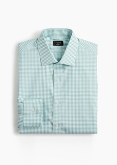 J.Crew Ludlow Slim-fit stretch two-ply easy-care cotton dress shirt in aqua gingham