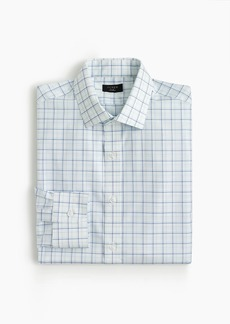 J.Crew Ludlow stretch two-ply easy-care cotton dress shirt in blue tattersall