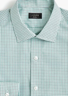 J.Crew Ludlow Slim-fit stretch two-ply easy-care cotton dress shirt in micro-tattersall