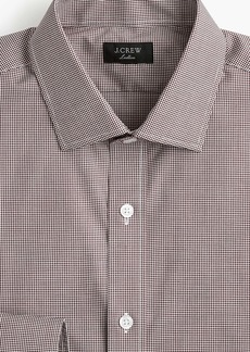 J.Crew Ludlow Slim-fit stretch two-ply easy-care cotton dress shirt in microgingham