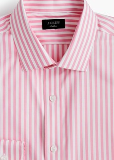 J.Crew Ludlow Slim-fit stretch two-ply easy-care cotton dress shirt in pink stripe