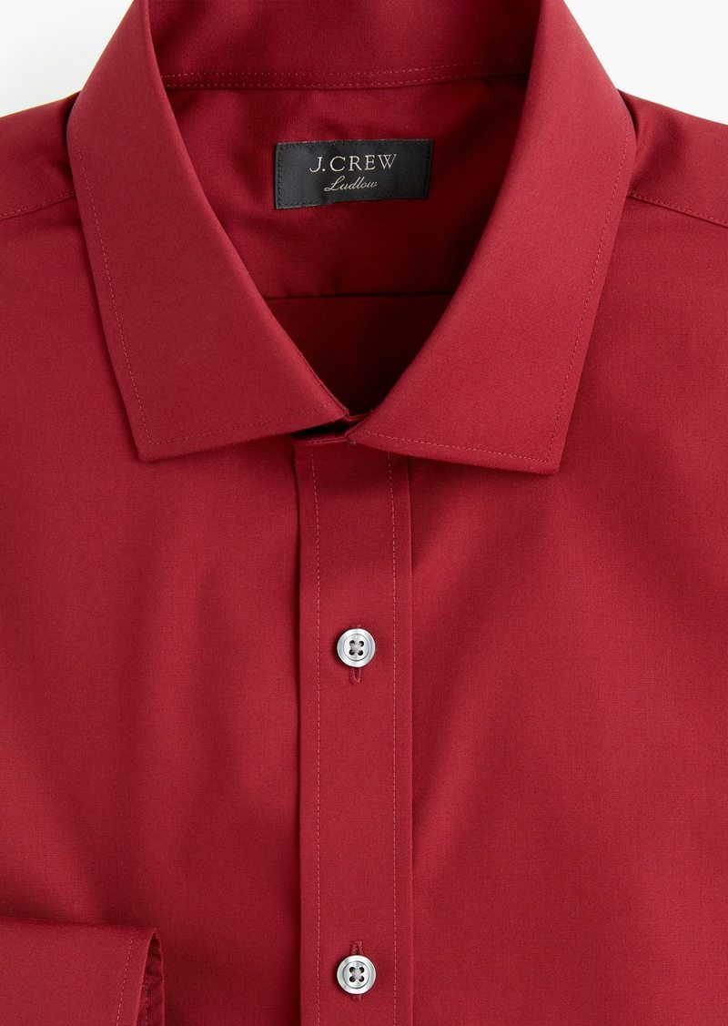J.Crew Ludlow Slim-fit stretch two-ply easy-care cotton dress shirt in solid