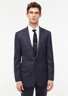 J.Crew Ludlow Slim-fit suit jacket in English mini-herringbone windowpane wool