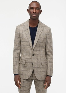 J.Crew Ludlow Slim-fit suit jacket in Scottish windowpane wool