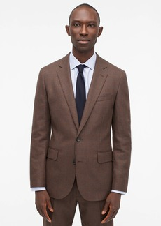J.Crew Ludlow Slim-fit unstructured suit jacket in English glen plaid wool-cotton