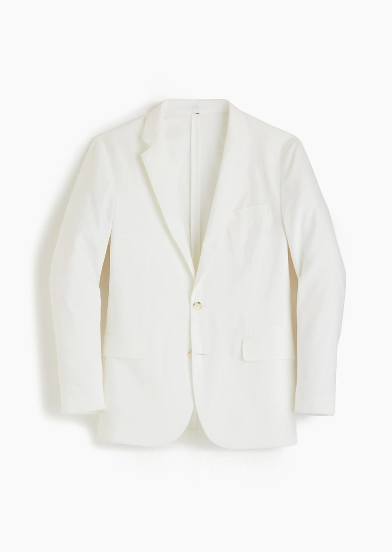 55856381a Ludlow Slim-fit unstructured suit jacket in white cotton-linen