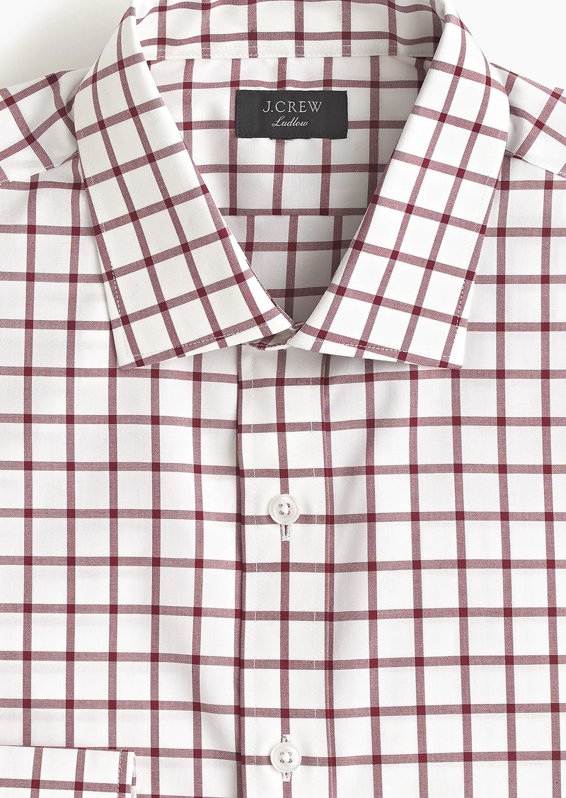 f5bfd564ac75 Ludlow slim-fit stretch two-ply easy-care cotton dress shirt in mini  windowpane. J.Crew