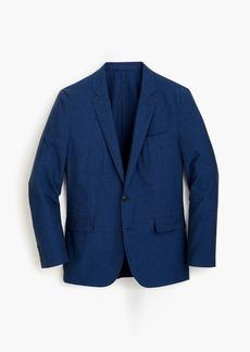 J.Crew Ludlow Slim-fit unstructured suit jacket in blue cotton-linen