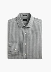 J.Crew Ludlow wool shirt in light grey pinstripe