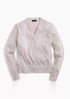 J.Crew Lurex® wrap sweater