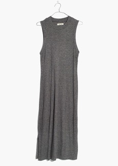 Madewell ribbed mockneck midi dress