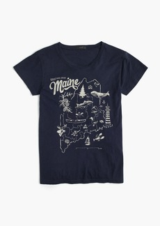 """Maine"" destination art T-shirt"