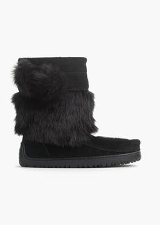 Manitobah for J.Crew faux-fur mukluks