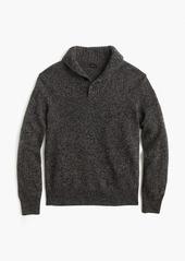 J.Crew Marled lambswool shawl-collar sweater