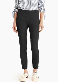 J.Crew Martie slim crop pant in bi-stretch cotton with side zip