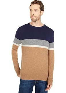 J.Crew Merino Nylon Color-Block Crew