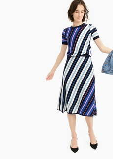 J.Crew Merino wool A-line skirt in diagonal stripe