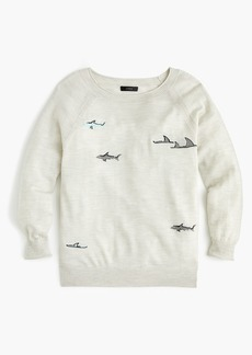 J.Crew Merino wool crewneck sweater in shark