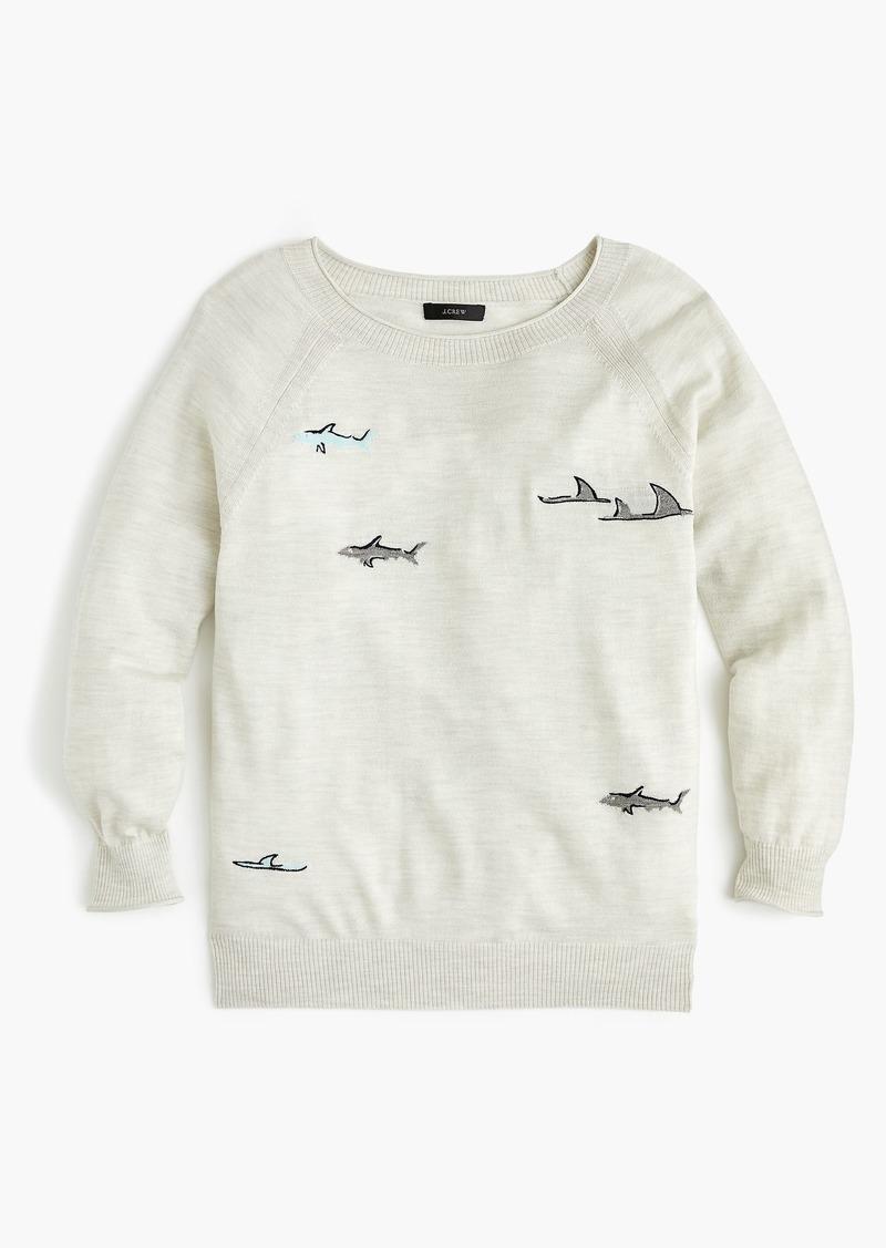 1cb755d244f9ed SALE! J.Crew Merino wool crewneck sweater in shark