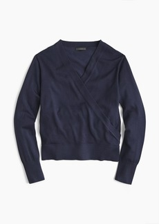 J.Crew Merino wrap sweater