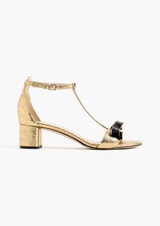 J.Crew Metallic ankle-strap sandals