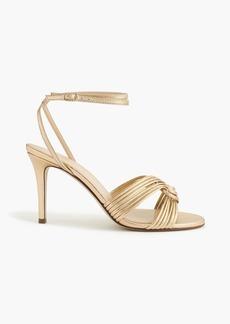 Metallic gold strappy heels