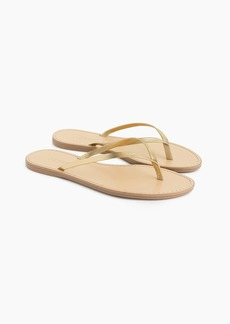 J.Crew Metallic leather Capri sandals