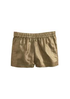 Metallic linen short