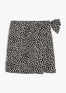 Metallic pebble print jacquard skirt