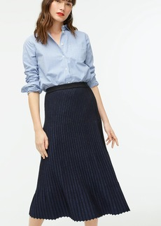 J.Crew Metallic pleated sweater-skirt