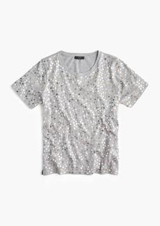 Metallic sequin T-shirt