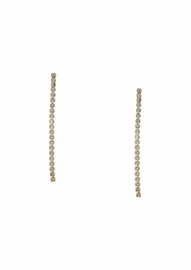 J.Crew Mia Linear Crystal Chain Earrings