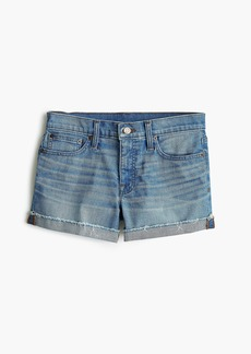 J.Crew Midrise denim short in light wash