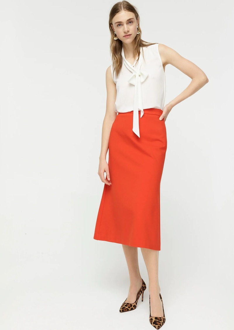 J.Crew Midi A-line skirt in structured ponte