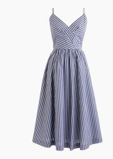 J.Crew Midi party dress in shirting stripes