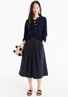 J.Crew Midi skirt in vintage clip dot