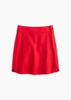 J.Crew Mini skirt in double-serge wool