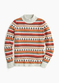 J.Crew Mockneck Fair Isle sweater