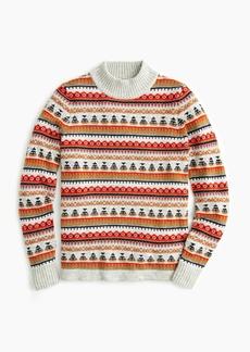 J.Crew Mockneck Fair Isle sweater