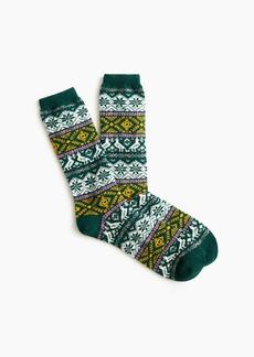 J.Crew Multicolor Fair Isle trouser socks