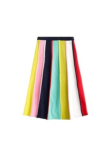 J.Crew Multicolor Stripe Flare Sweater Skirt