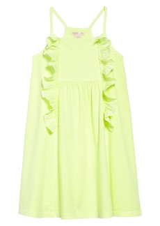 J.Crew Neon Ruffle Dress (Toddler Girls, Little Girls & Big Girls)