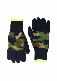 J.Crew Neon Tipped Camo Gloves