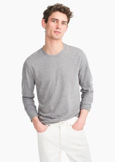 J.Crew Essential long-sleeve T-shirt in heathered cotton
