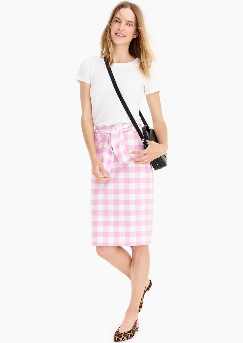 J.Crew No. 2 Pencil® skirt in bi-stretch cotton gingham