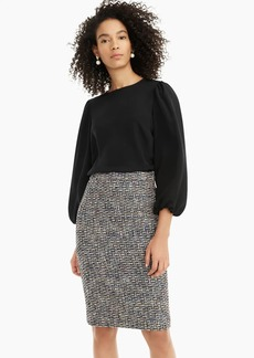 J.Crew No. 2 Pencil® skirt in black metallic tweed