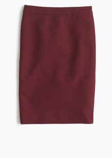 J.Crew Petite No. 2 pencil skirt in double-serge wool