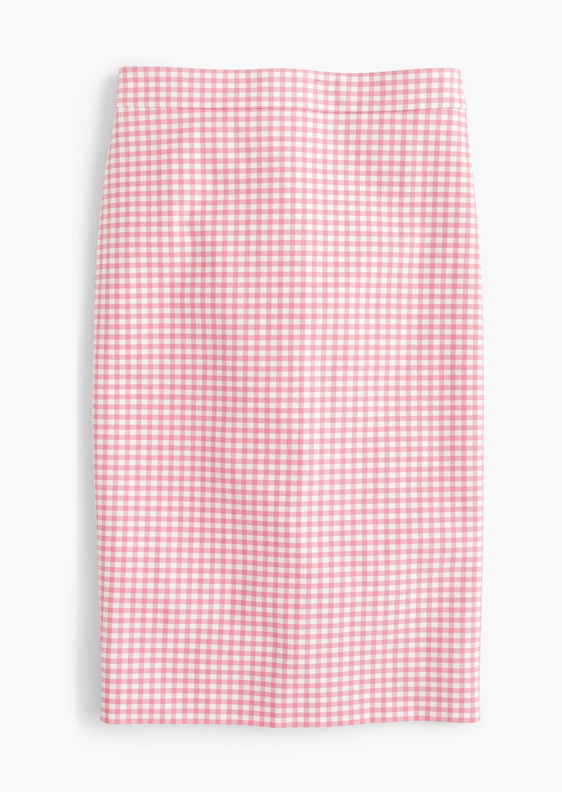 8b4482a06f28 J.Crew No. 2 pencil skirt in gingham two-way stretch cotton | Skirts